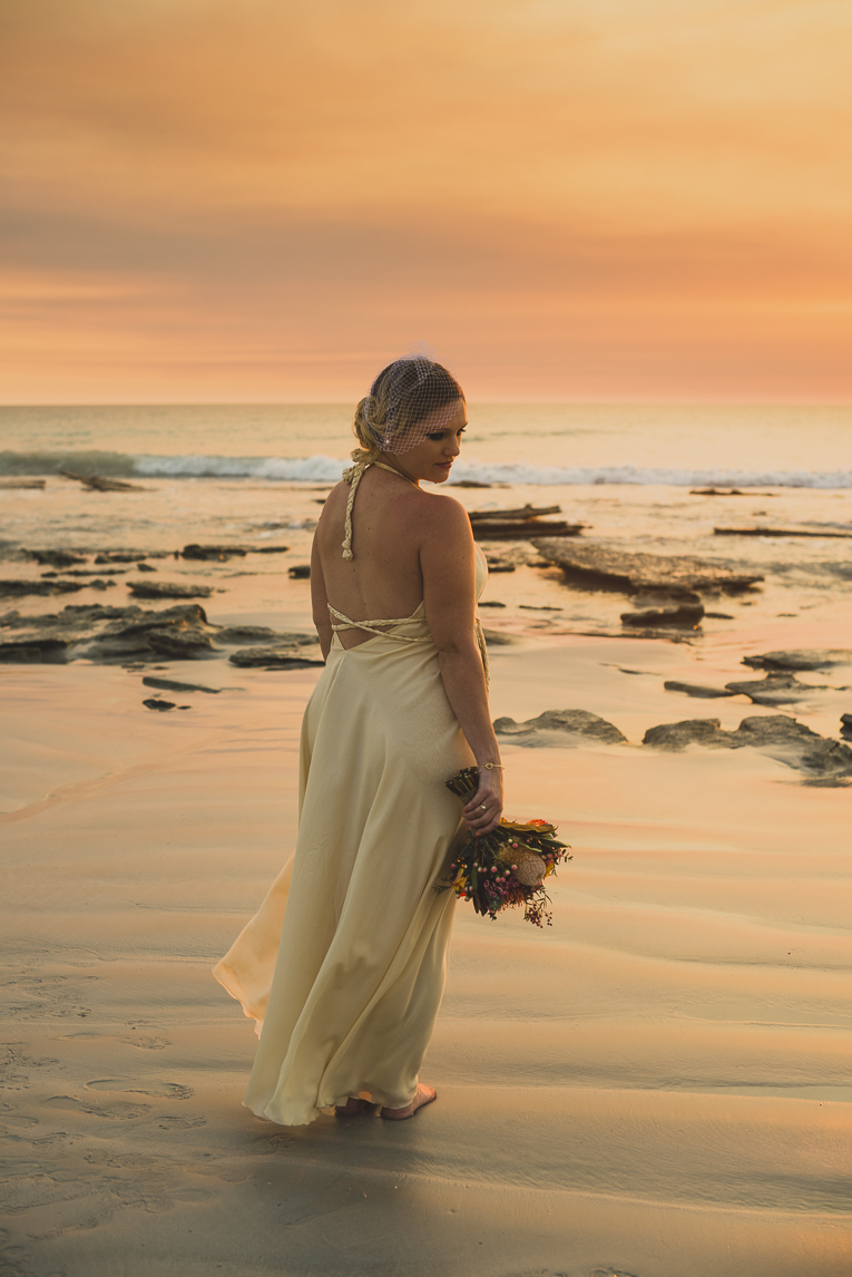 rozimages - wedding photography - bride on beach - Broome, Australia