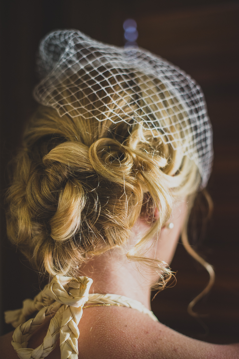 rozimages - wedding photography - close-up on bride hairstyle - Broome, Australia