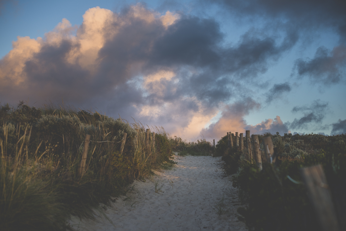 rozimages - pregnancy photography - maternity photography - beach path and cloudy sky - City Beach, Perth, Australia