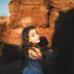 rozimages - portrait photography - family session - girl with red rock background - Broome, Australia