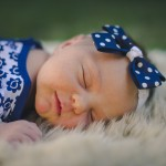 rozimages - portrait photography - newborn session - face of newborn baby girl sleeping - Broome, Australia