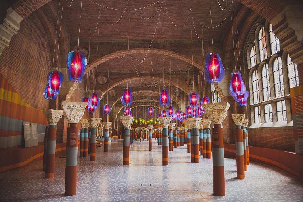 rozimages - photographie de voyage - architecture - colonnes en exposition - Musée des Augustins, Toulouse, France