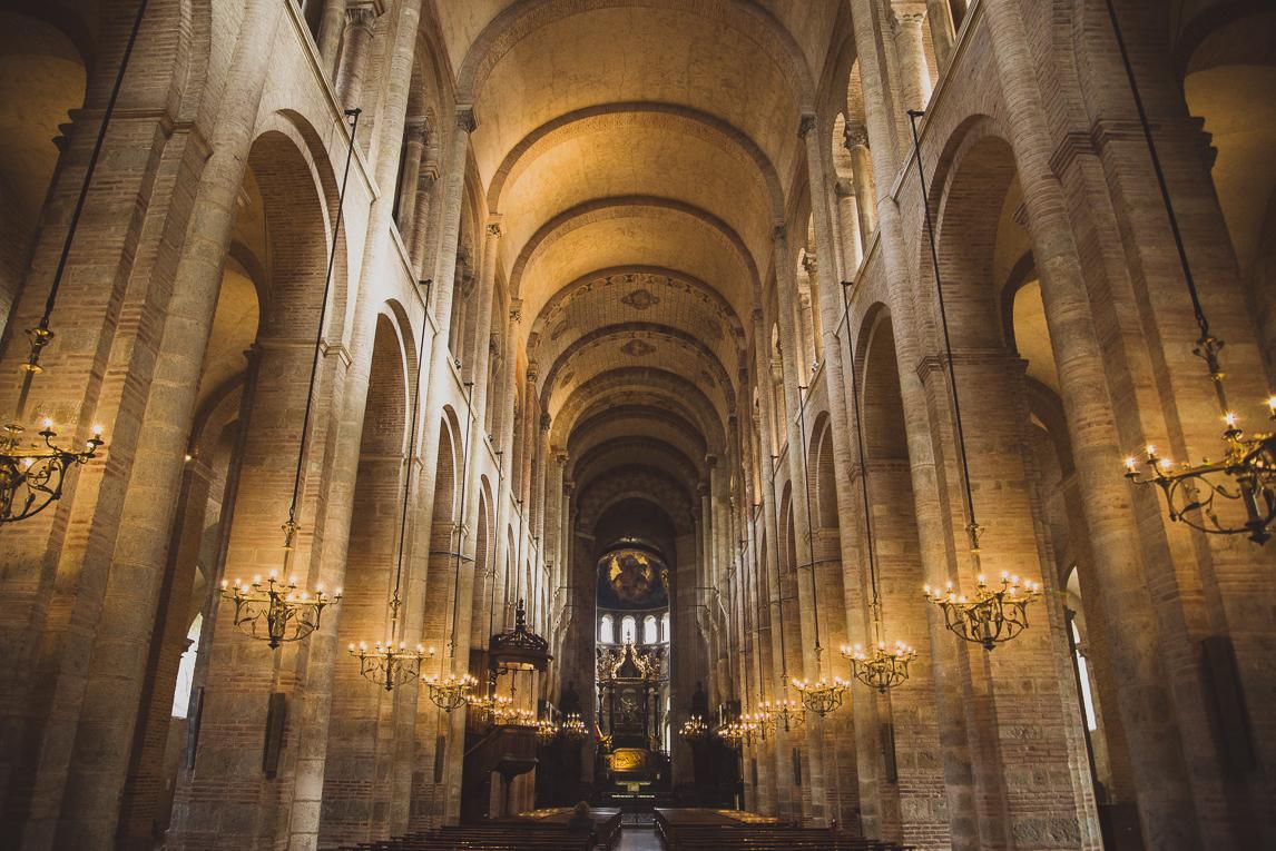 rozimages - photographie de voyage - architecture - intérieur d'église - Basilique Saint Sernin, Toulouse, France