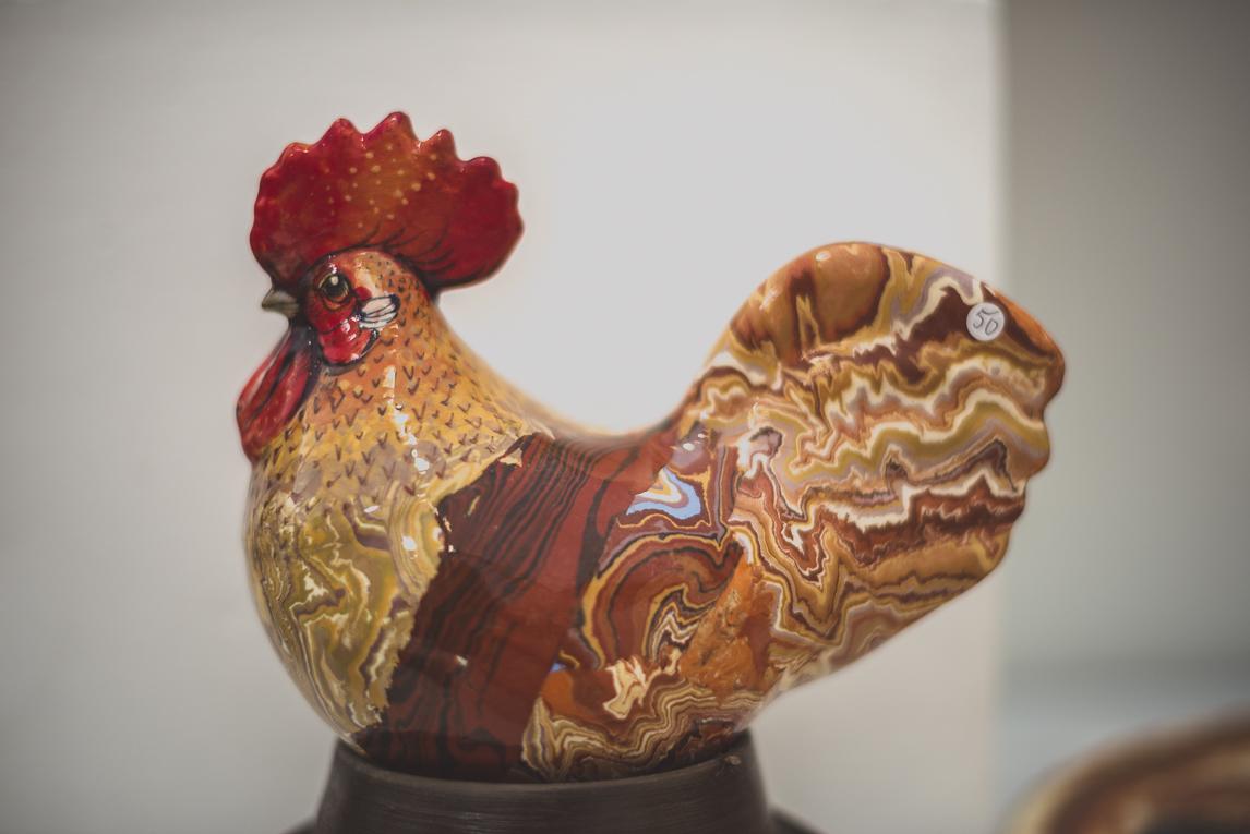 rozimages - photographie évènementielle - Salon des Arts et du Feu 2015 - sculpture en forme de coq - Martres-Tolosane, France