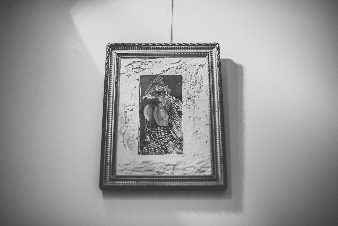 rozimages - photographie évènementielle - Salon des Arts et du Feu 2015 - coq encadré, accroché au mur - Martres-Tolosane, France