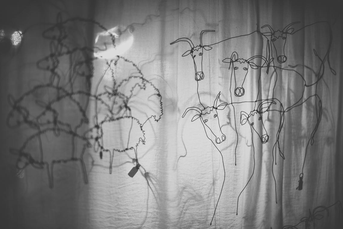 rozimages - photographie évènementielle - Salon des Arts et du Feu 2015 - animaux sculptés en fil de fer, et ombres - Martres-Tolosane, France