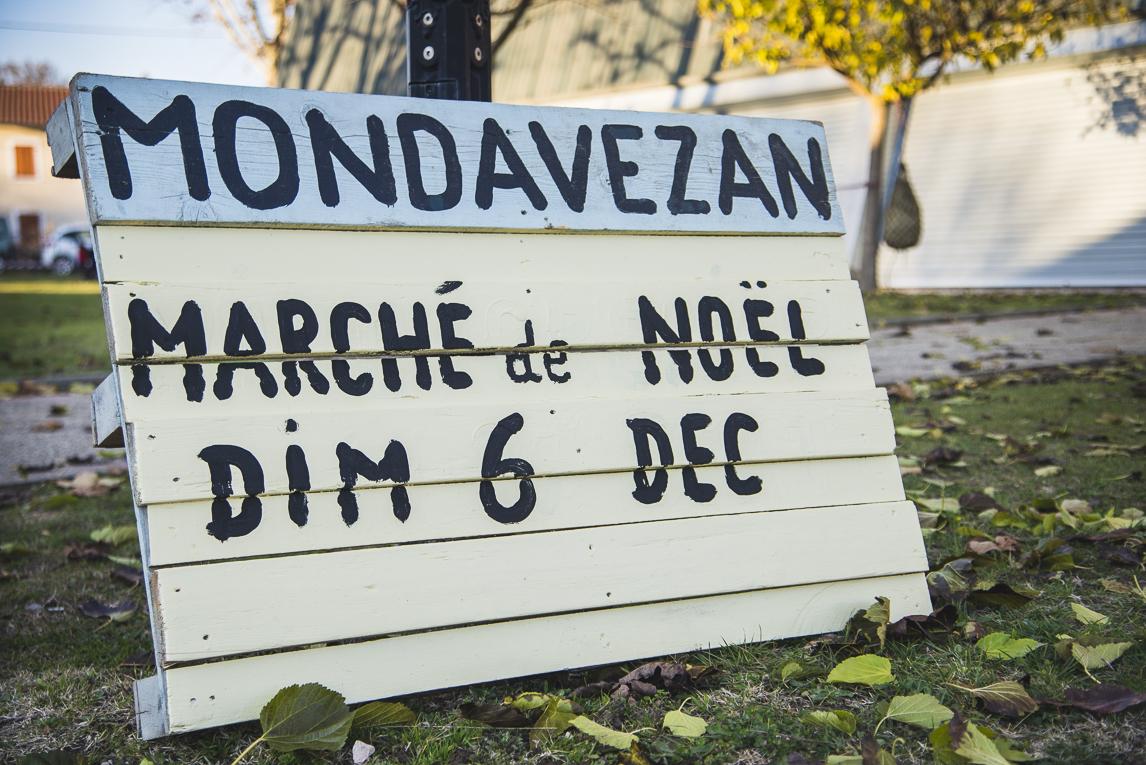rozimages - photographie d'évènement - évènement communautaire - Marché de Noël 2015 - panneau - Mondavezan, France
