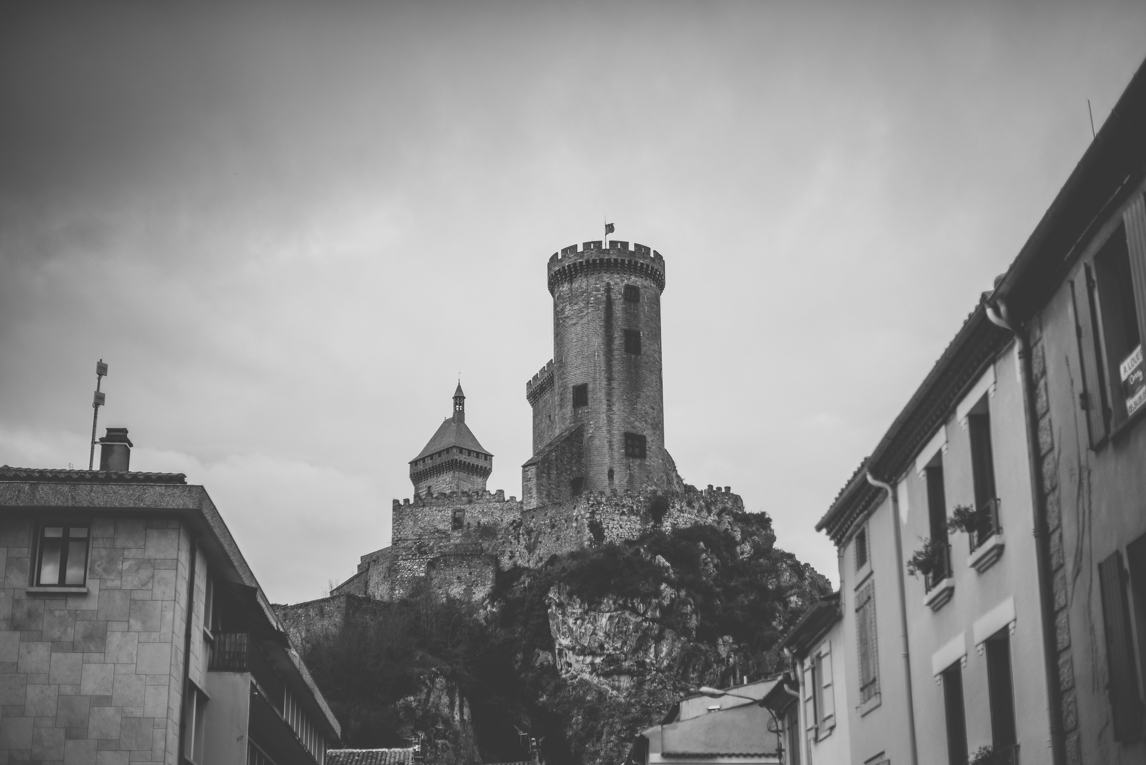 rozimages - travel photography - castle on top of rock - Foix, France