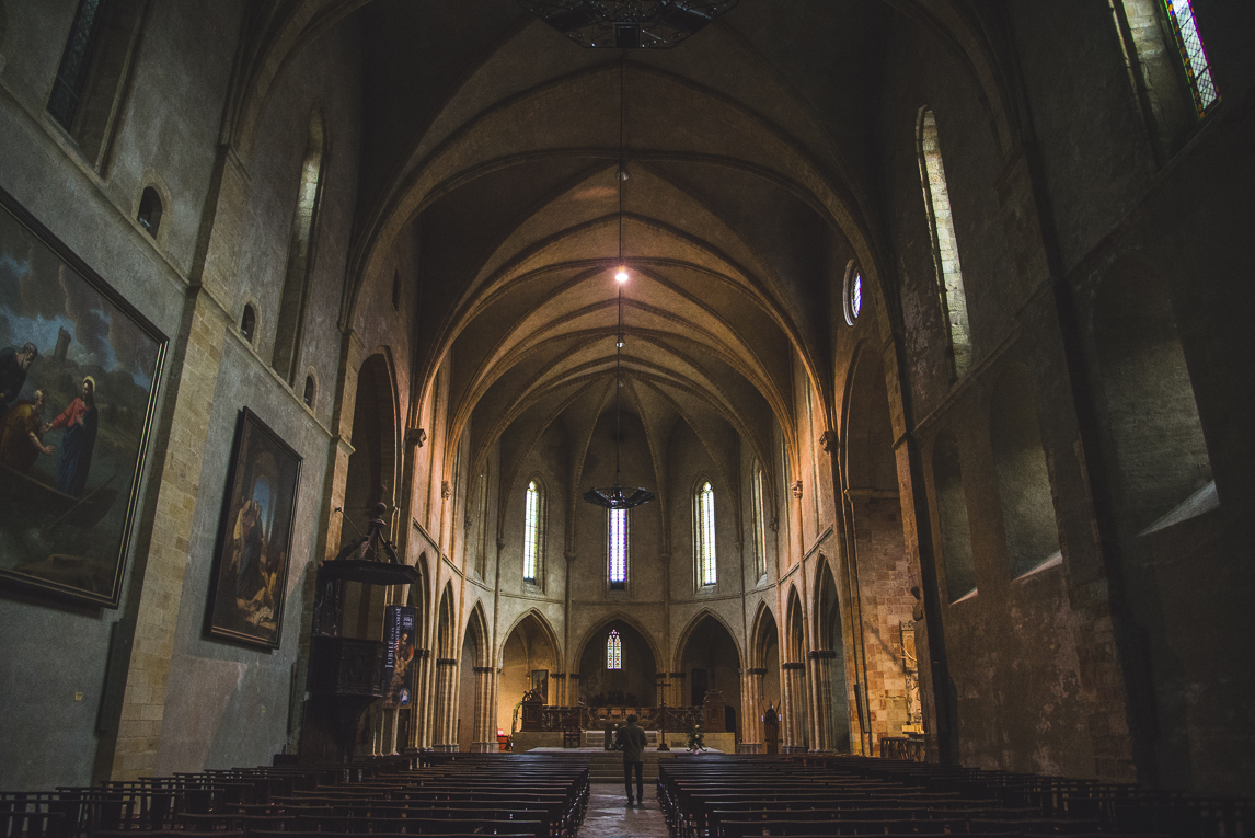 rozimages - travel photography - inside of church - Foix, France