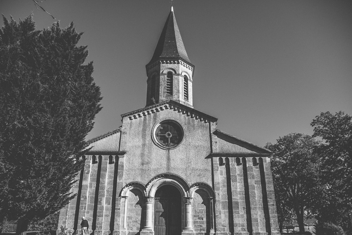 rozimages - travel photography - front of church - Fabas, France