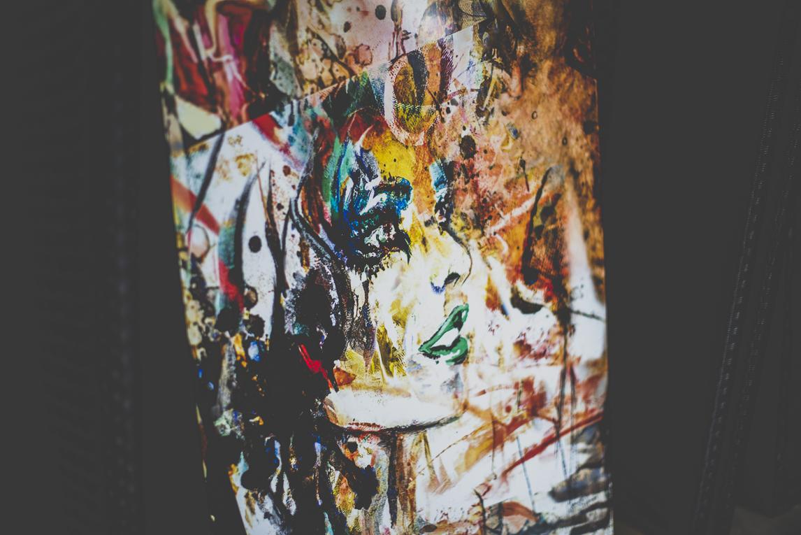 Salon Bien-être et Créations Toulouse - peinture encadrée de Jenny Dufraisse - Photographe évènementiel