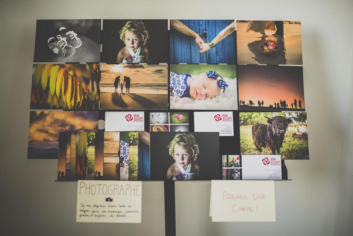 Salon Bien-être et Créations Toulouse - Présentoir de photos et cartes - Photographe évènementiel