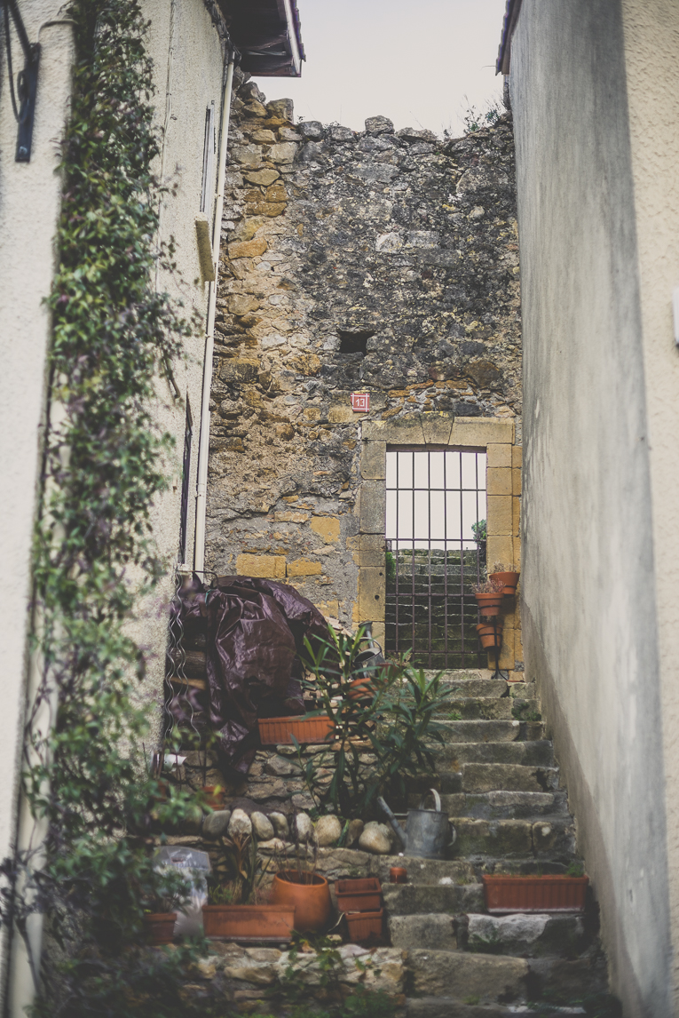 Photo of the French town of Aurignac - staircase leading to ruins - Aurignac Photographer