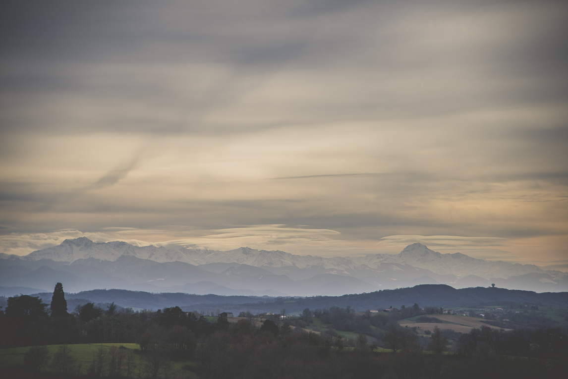 Photo of the French town of Aurignac - view of the mountains - Aurignac Photographer