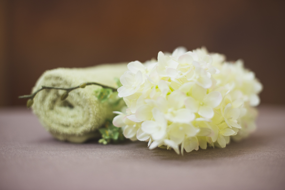 Thai Touch Massage Utopia Broome - rolled towel and flowers - Commercial Photographer