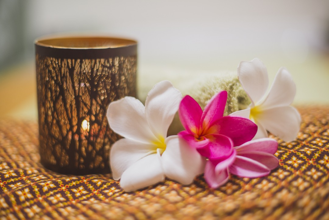 Thai Touch Massage Utopia Broome - candle and flowers - Commercial Photographer