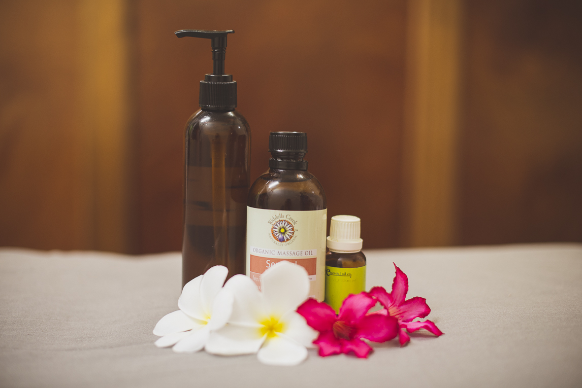 Thai Touch Massage Utopia Broome - massage oil products and flowers - Commercial Photographer