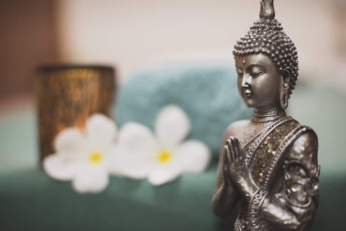 Thai Touch Massage Utopia Broome - buddha figurine and flowers - Commercial Photographer