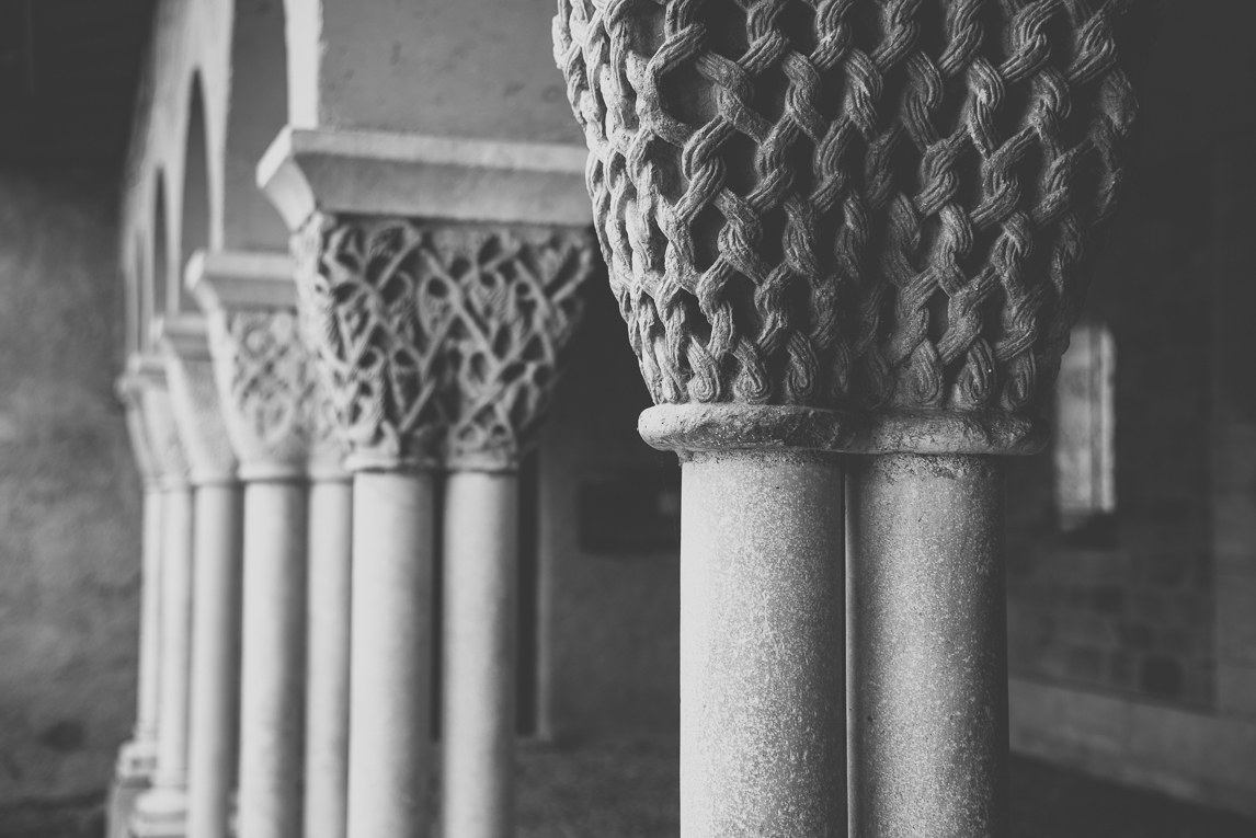 Photo of the French town of Saint-Gaudens - columns in cloister - Saint-Gaudens Photographer