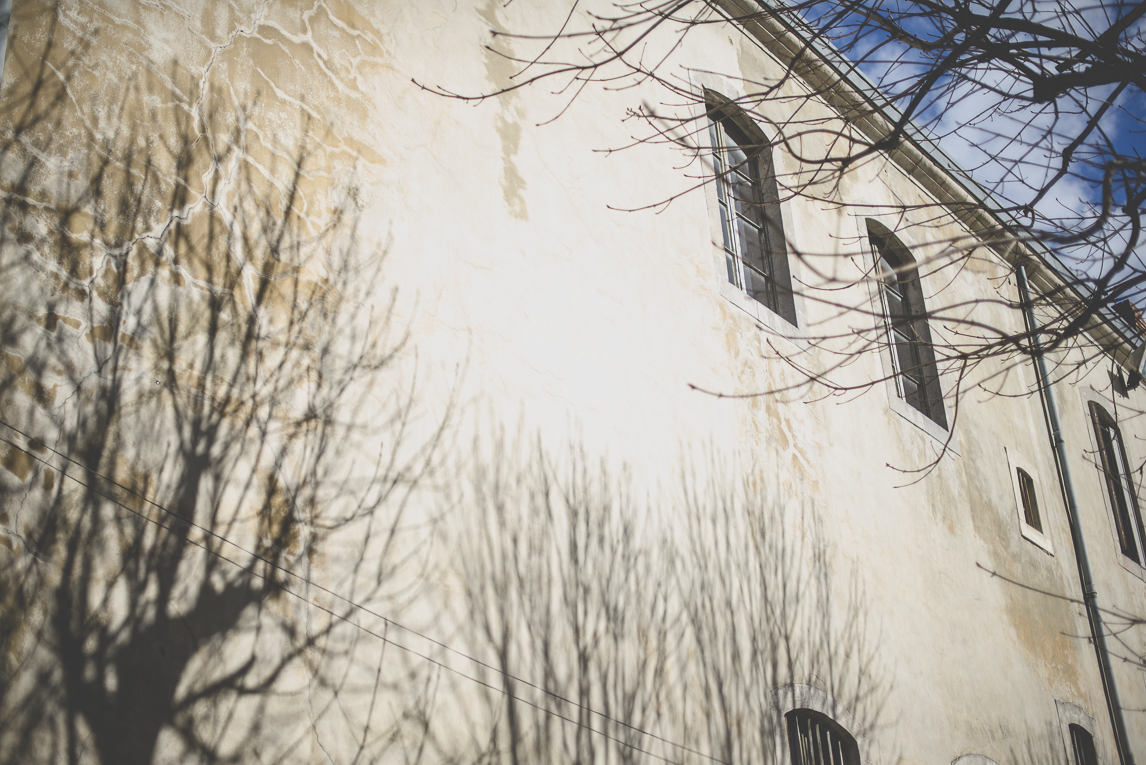 Photo of the French town of Saint-Gaudens - tree shadows on wall - Saint-Gaudens Photographer
