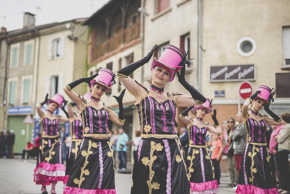 Fête des fleurs Cazères 2016 - danceuses - Photographe évènementiel
