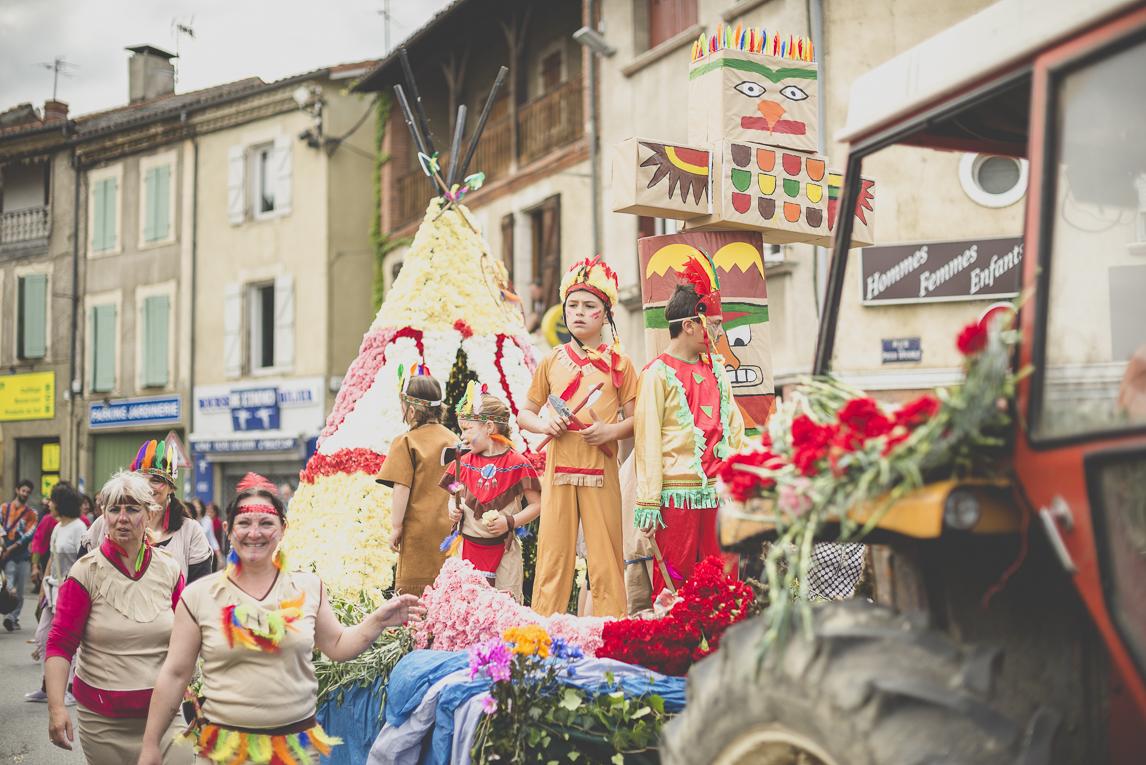 Fête des fleurs Cazères 2016 - char de défilé décoré - Photographe évènementiel