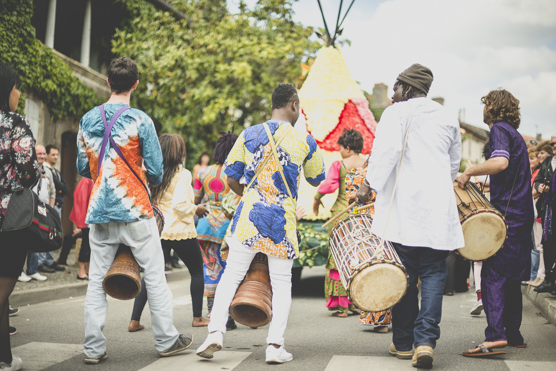 Fête des fleurs Cazères 2016 - joueurs de tambours djembé - Photographe évènementiel