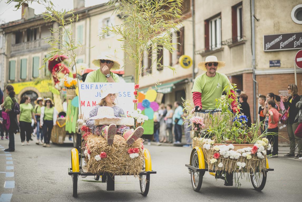 Fête des fleurs Cazères 2016 - défilé - Photographe évènementiel
