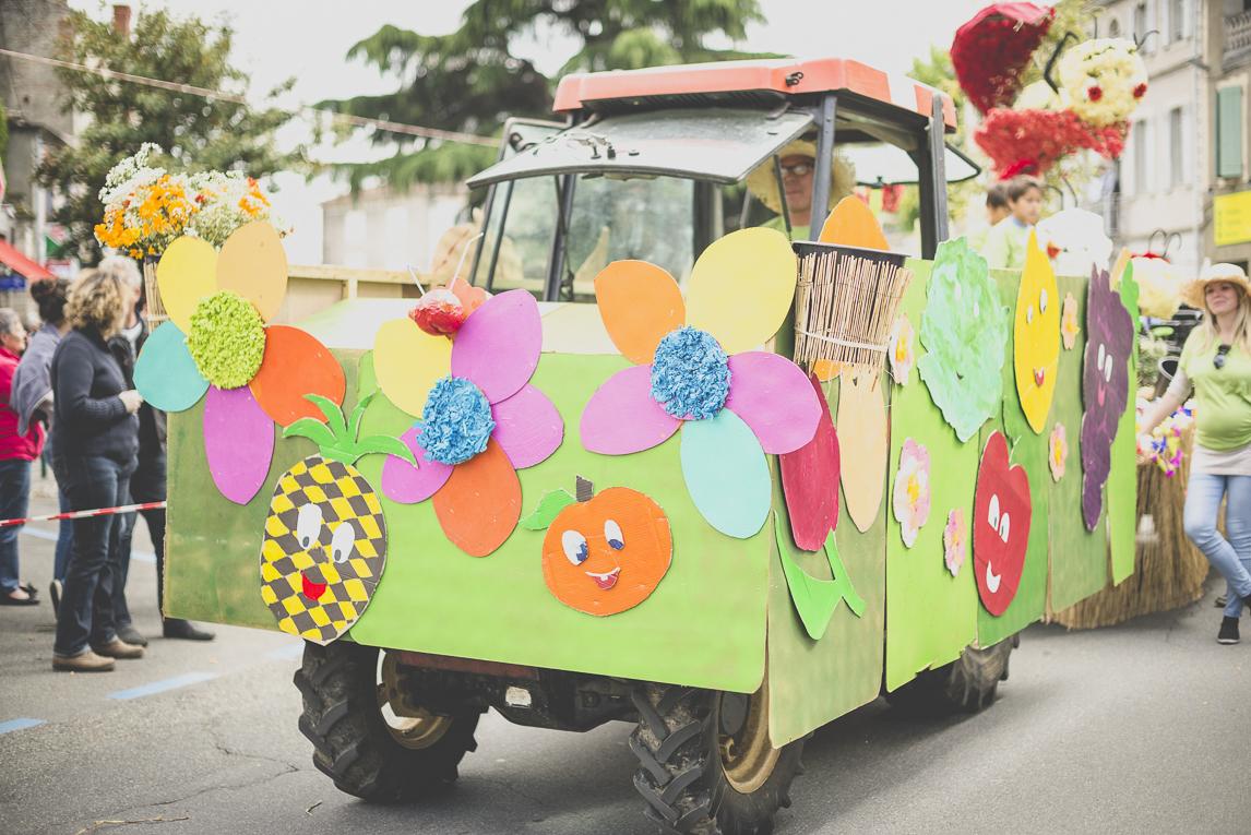 Fête des fleurs Cazères 2016 - char décoré de défilé - Photographe évènementiel