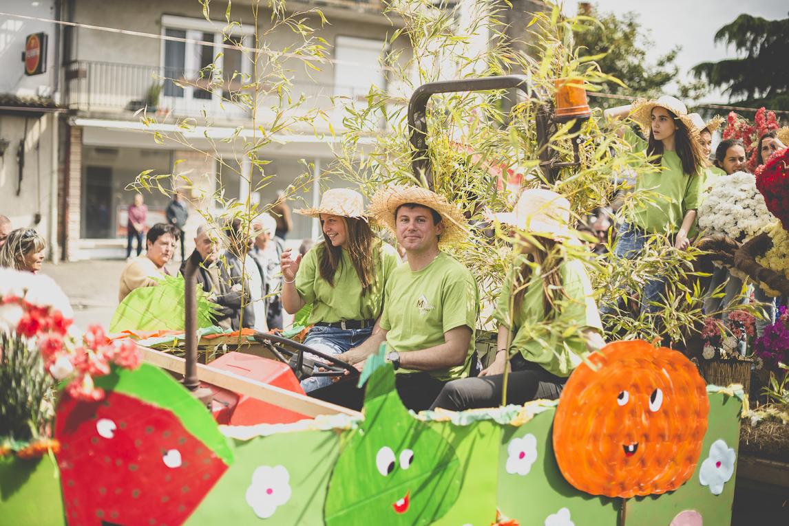 Fête des fleurs Cazères 2016 - char décoré - Photographe évènementiel