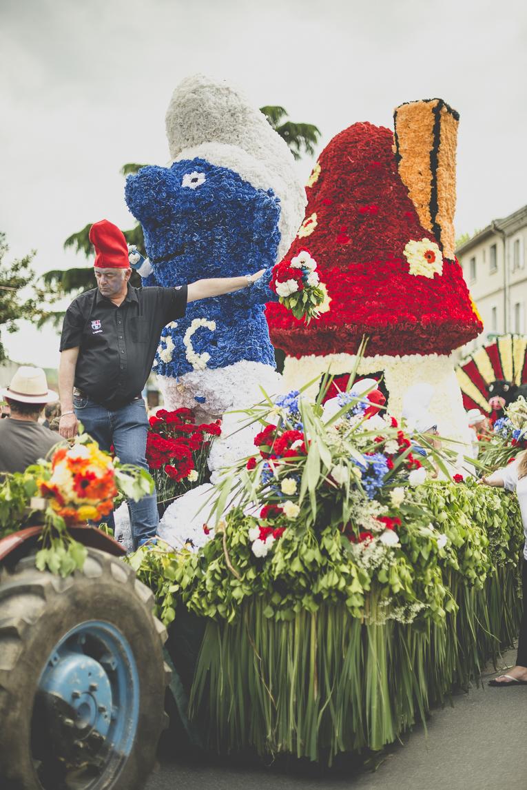 Fête des fleurs Cazères 2016 - défilé sur le thème des Schtroumpfs - Photographe évènementiel