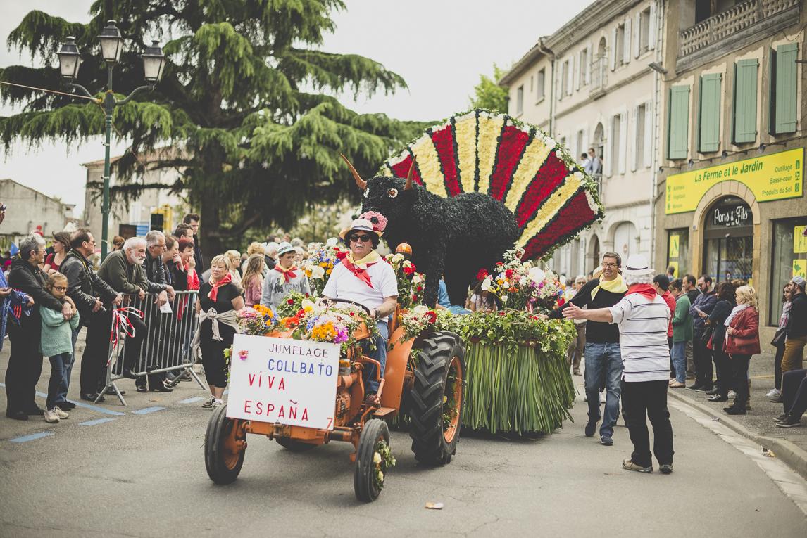 Fête des fleurs Cazères 2016 - tracteur et char de défilé - Photographe évènementiel