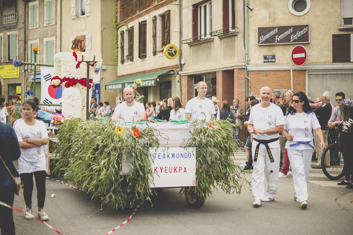 Fête des fleurs Cazères 2016 - défilé et char - Photographe évènementiel
