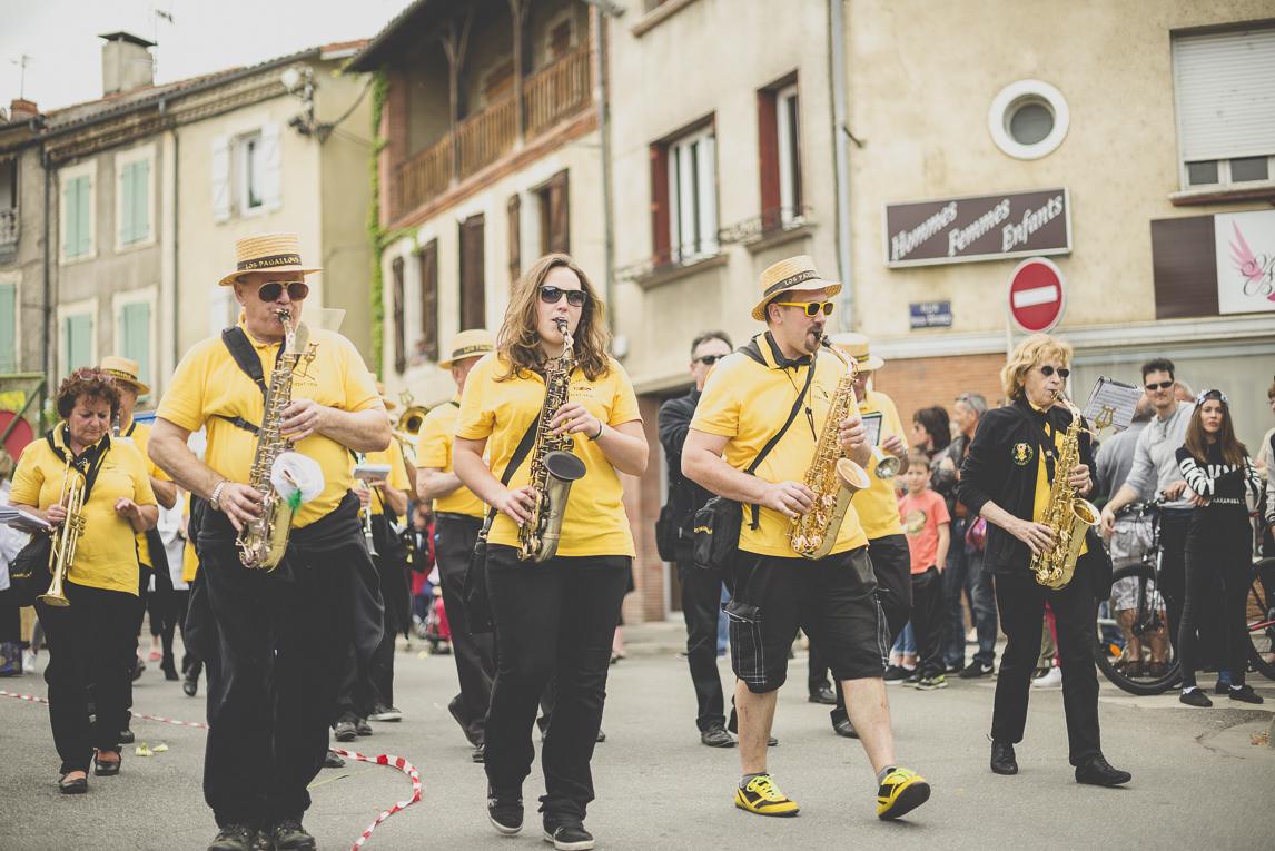 Fête des fleurs Cazères 2016 - joueurs de fanfare - Photographe évènementiel
