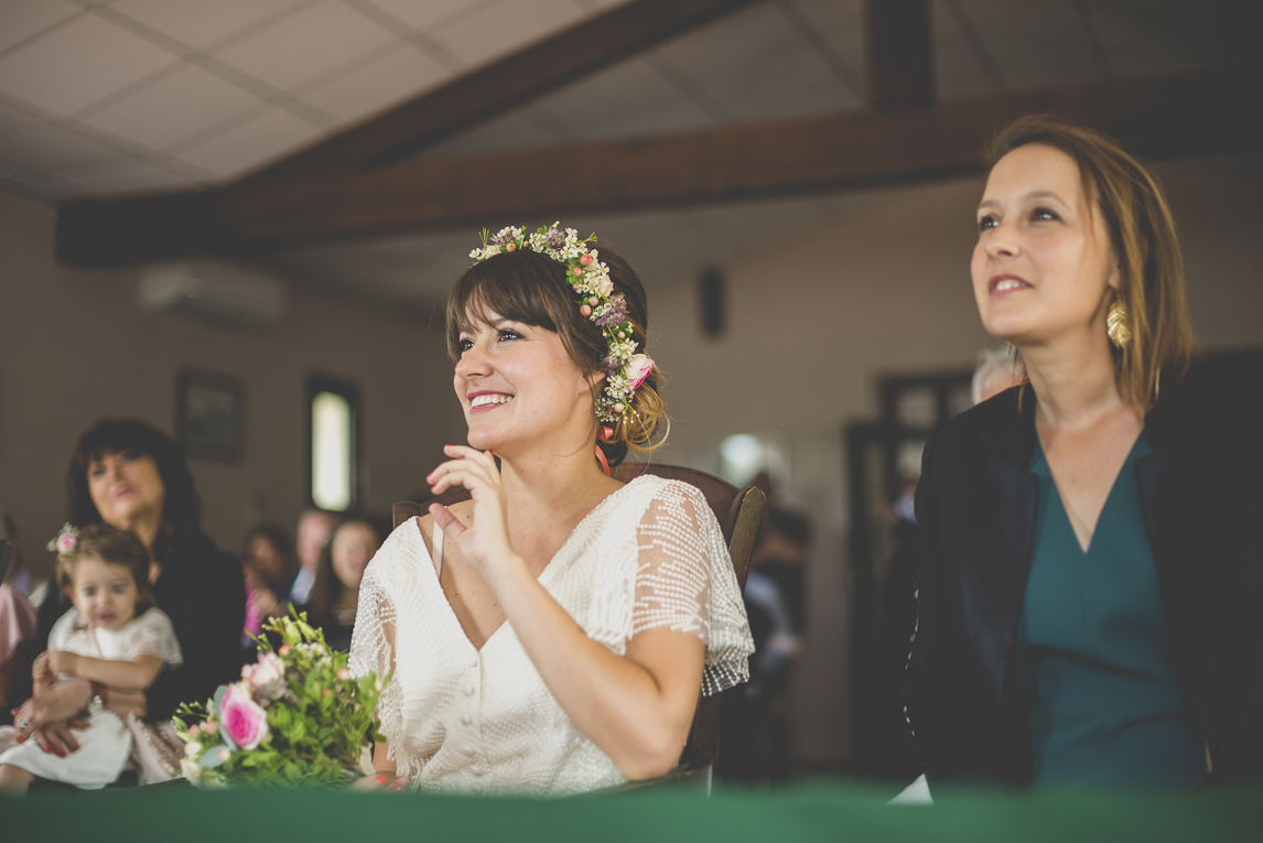 Wedding Photography Toulouse - bride and witness during civil ceremony - Wedding Photographer