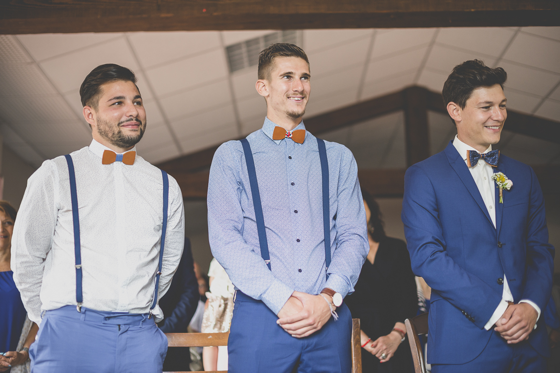 Wedding Photography Toulouse - groom and witnesses during civil ceremony - Wedding Photographer
