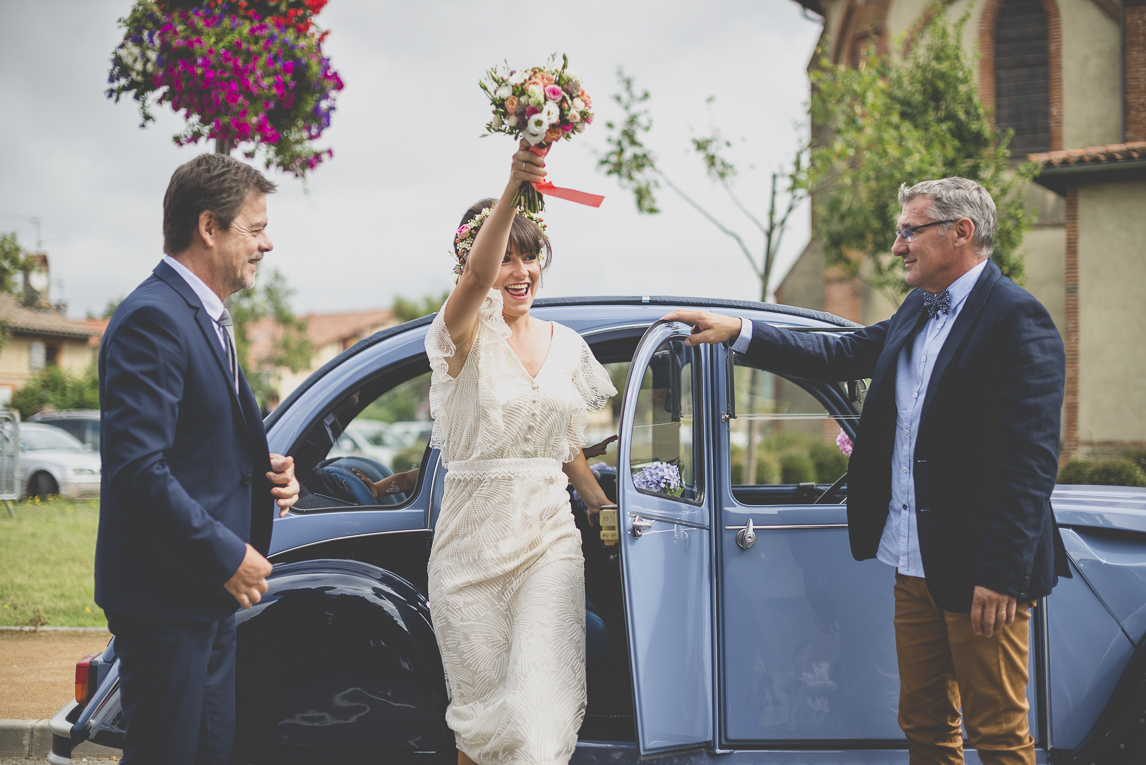 Wedding Photography Toulouse - arrival of the bride - Wedding Photographer