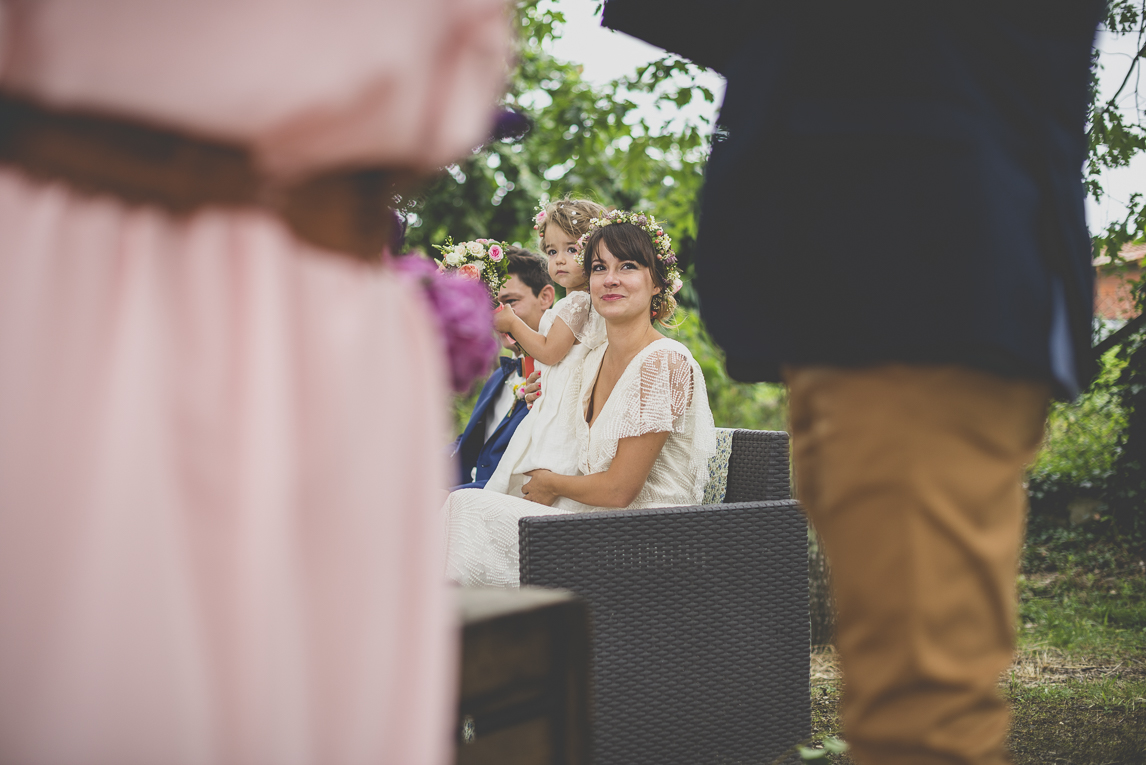 Wedding Photography Toulouse - bride and groom during secular ceremony - Wedding Photographer