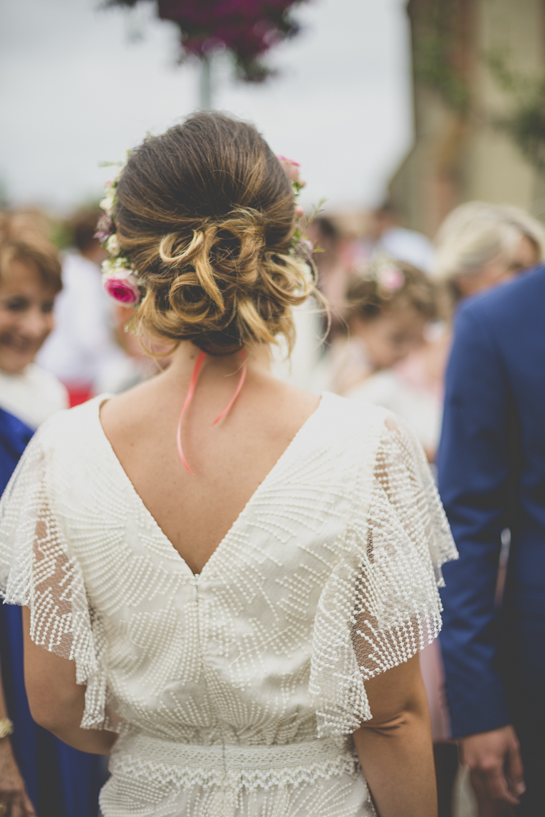 Wedding Photography Toulouse - back of the bride - Wedding Photographer