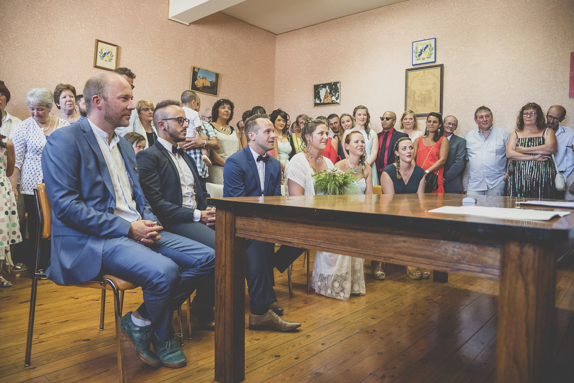 Wedding Photography South West France - civil ceremony at town hall - Wedding Photographer