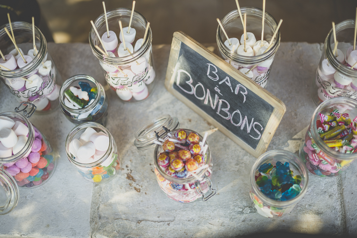 Wedding Photography South West France - candy bar - Wedding Photographer