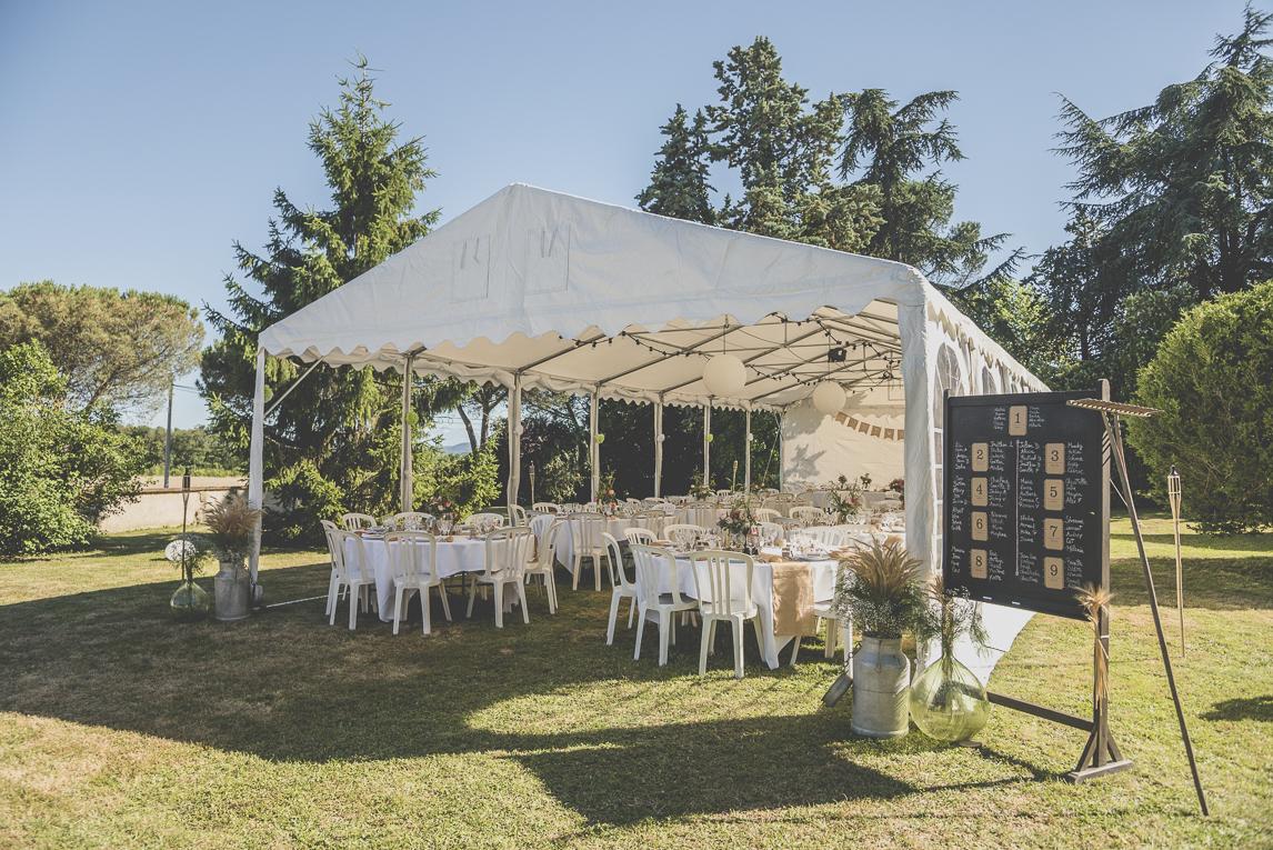 Wedding Photography South West France - tables under gazebo - Wedding Photographer