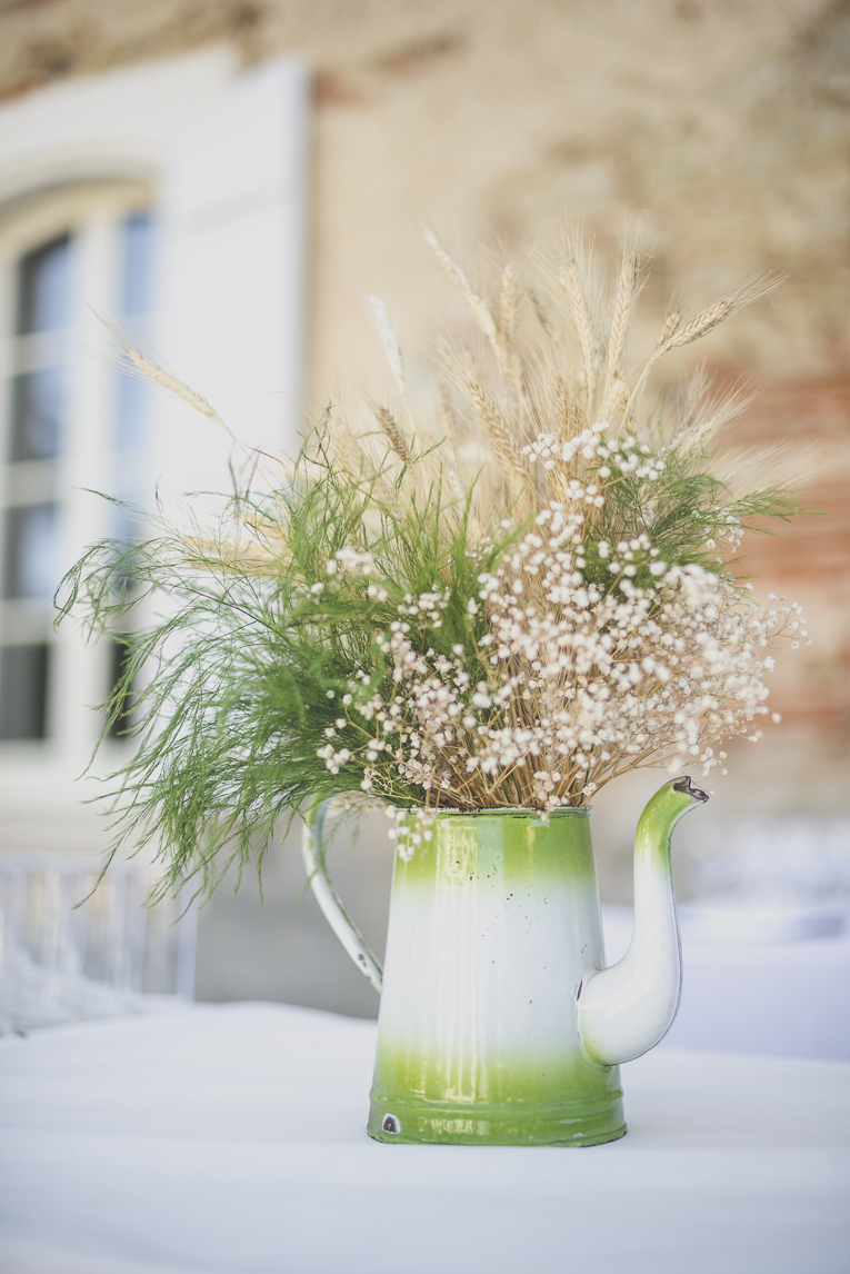 Wedding Photography South West France - table decoration - Wedding Photographer