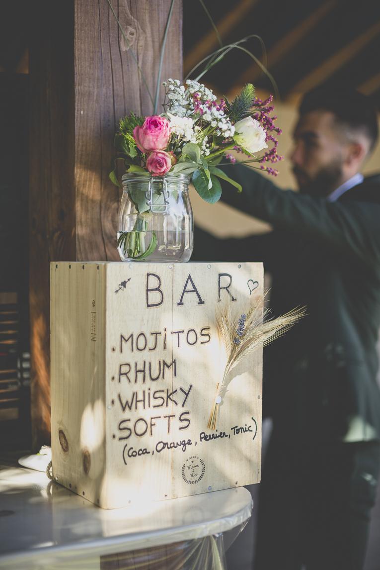 Reportage mariage Sud-Toulousain - décoration bar - Photographe mariage