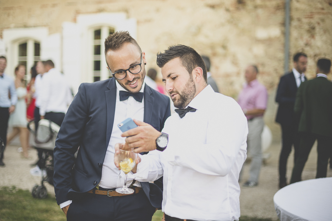 Wedding Photography South West France - guests at reception - Wedding Photographer