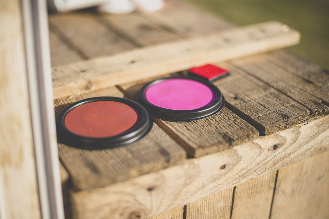 Wedding Photography South West France - coloured ink pads - Wedding Photographer