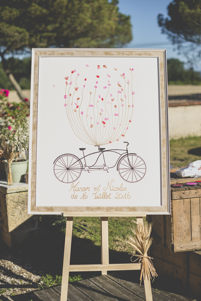Wedding Photography South West France - coloured finger prints on white canvas - Wedding Photographer