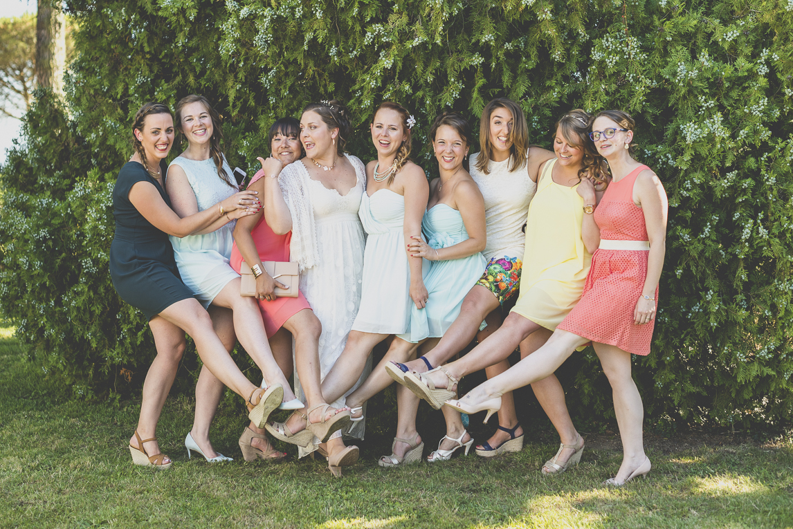 Wedding Photography South West France - bride and bridesmaids - Wedding Photographer