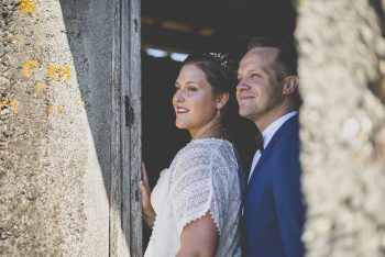 Wedding Photography South West France - portrait of bride and groom - Wedding Photographer