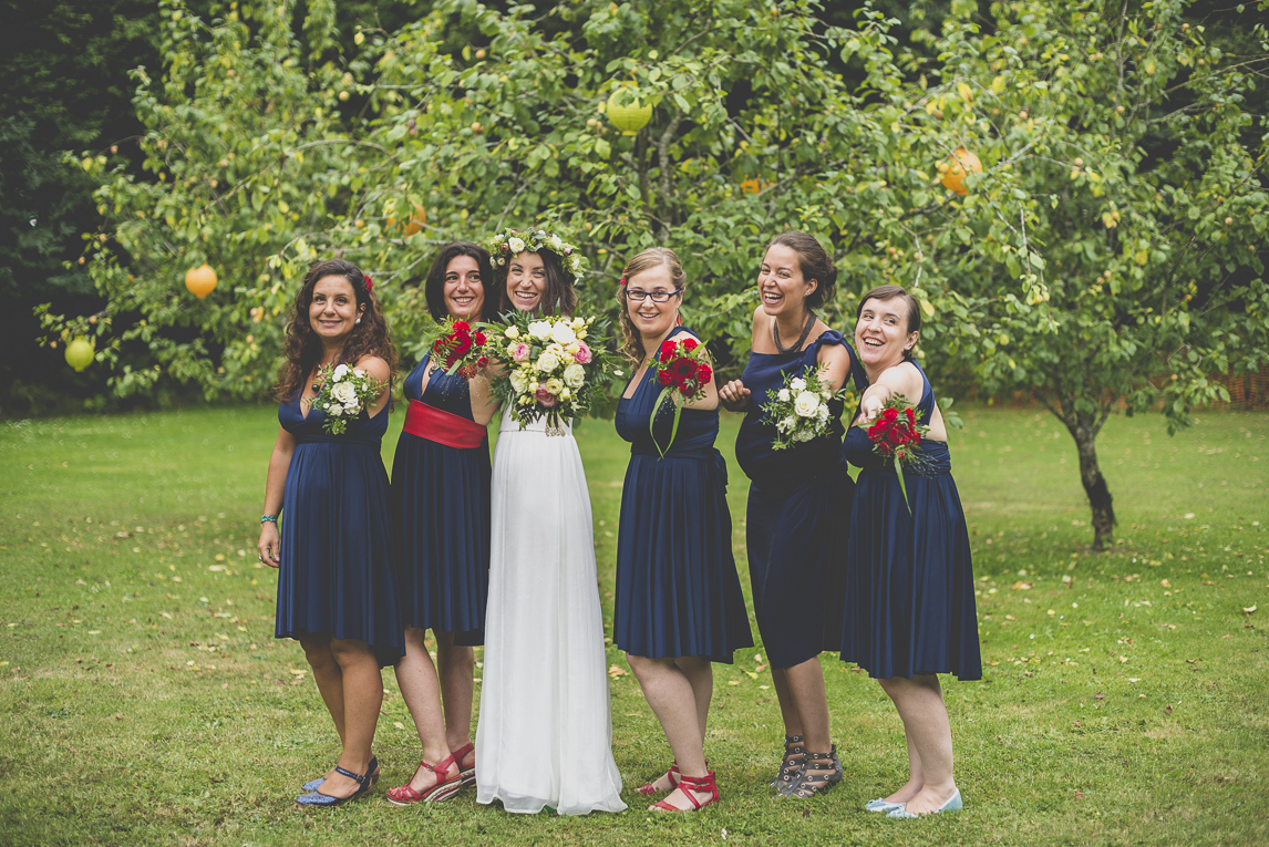 Wedding Photography Brittany - bride and bridesmaids - Wedding Photographer